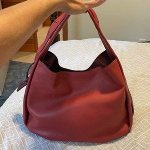 Coach Bandit Hobo Bag Washed Red Leather